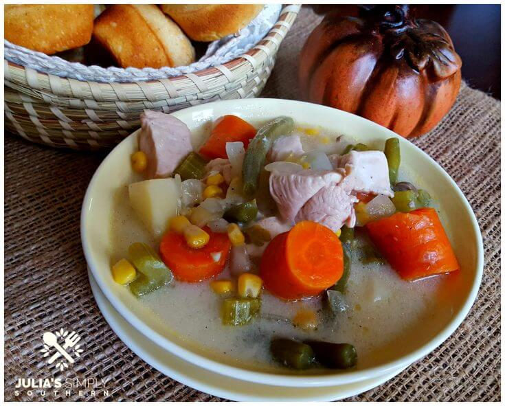 Creamy Country Chicken Stew - stove top or slow cooker version
