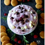 Amazing Cranberry Chocolate Chip Dip served with Vanilla Wafer Cookies