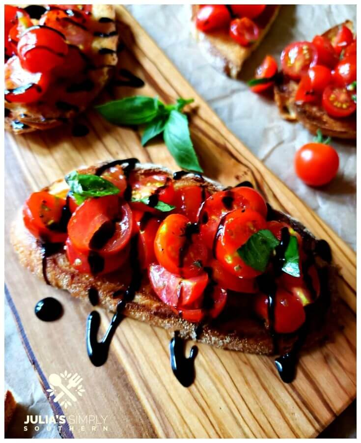 Garden Fresh Bruschetta Recipe Julias Simply Southern