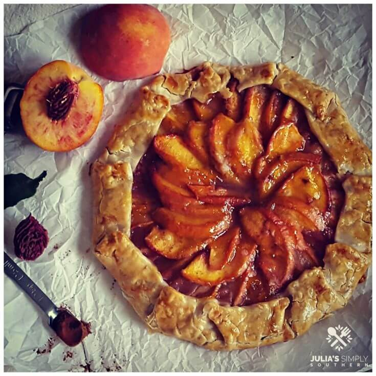 Peach Galette with refrigerated pie crust using fresh peaches