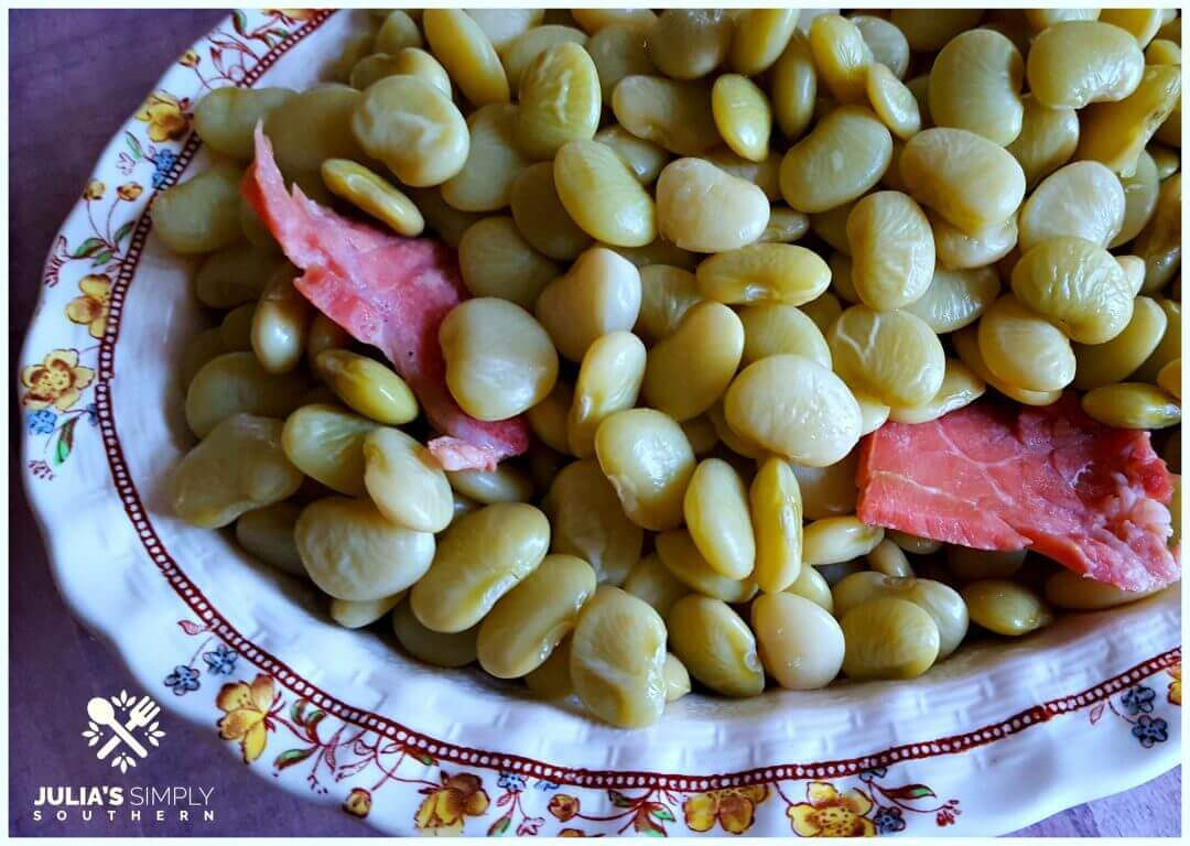 How to cook lima beans using fresh frozen rather than dried