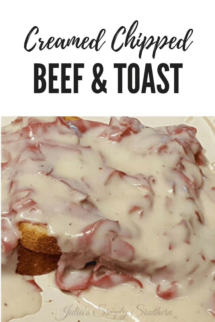 Creamed Chipped Beef and Toast - SOS - #easyrecipe #budgetfriendly #beef #classic