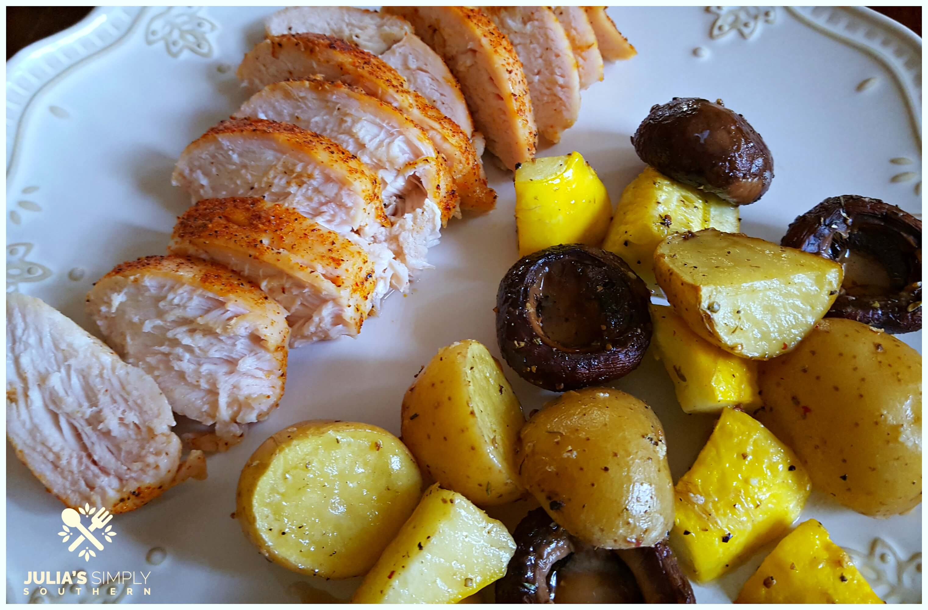 Roasted Vegetables with chicken breast - oven baked recipe