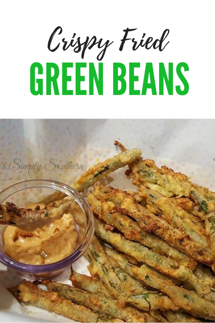 Crispy Pan Fried Green Beans appetizer, delicious served with your favorite dipping sauce #appetizers #easyrecipe #vegetables #greenbeans