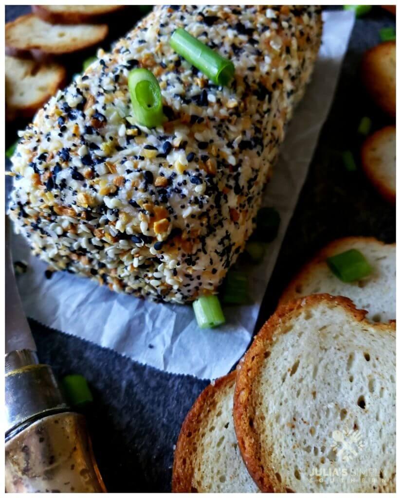 Best cheese ball recipe - Everything bagel seasoning
