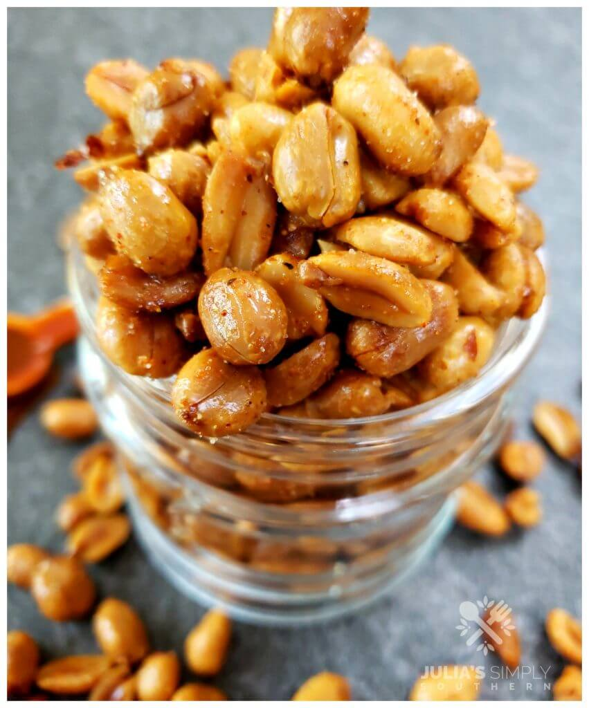 Seasoned and flavored with barbecue roasted peanuts for parties