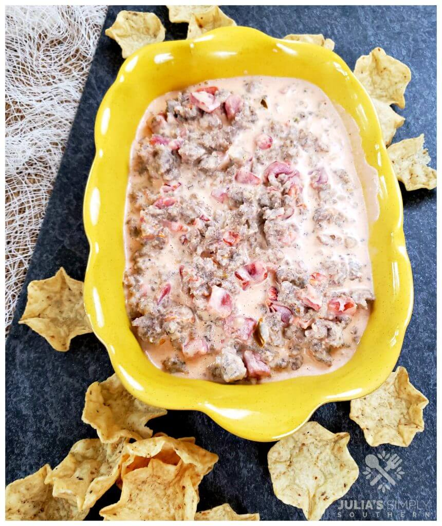 amazing party dip recipe with cream cheese and sausage