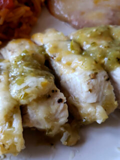 Salsa Verde Chicken - Best ever baked boneless chicken breast
