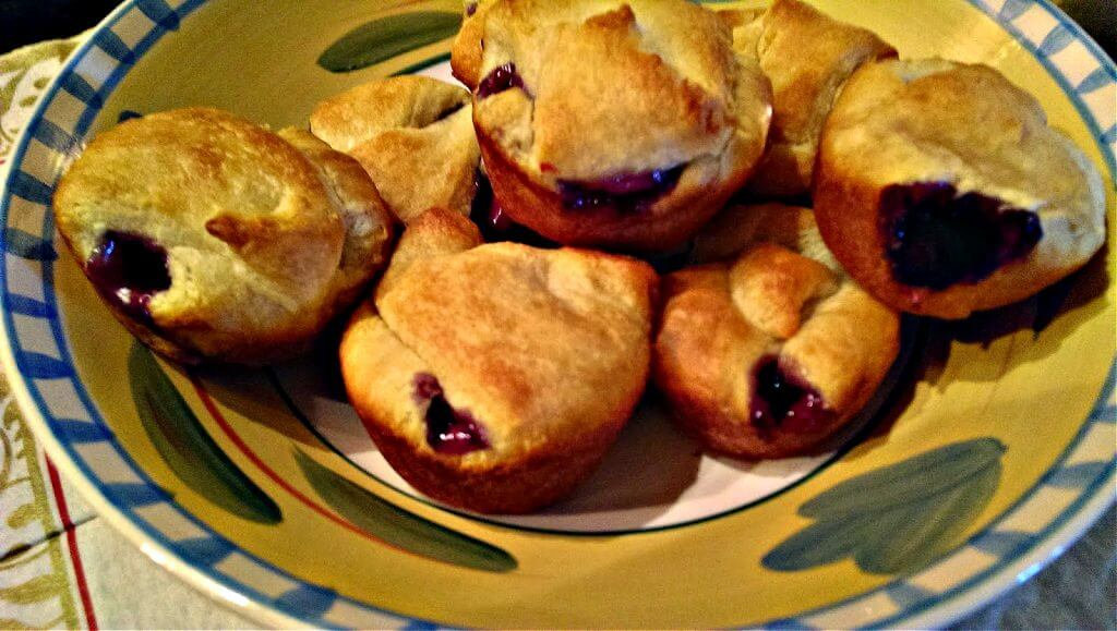Bowl with Crescent Rolls and Pie Filling Turnovers