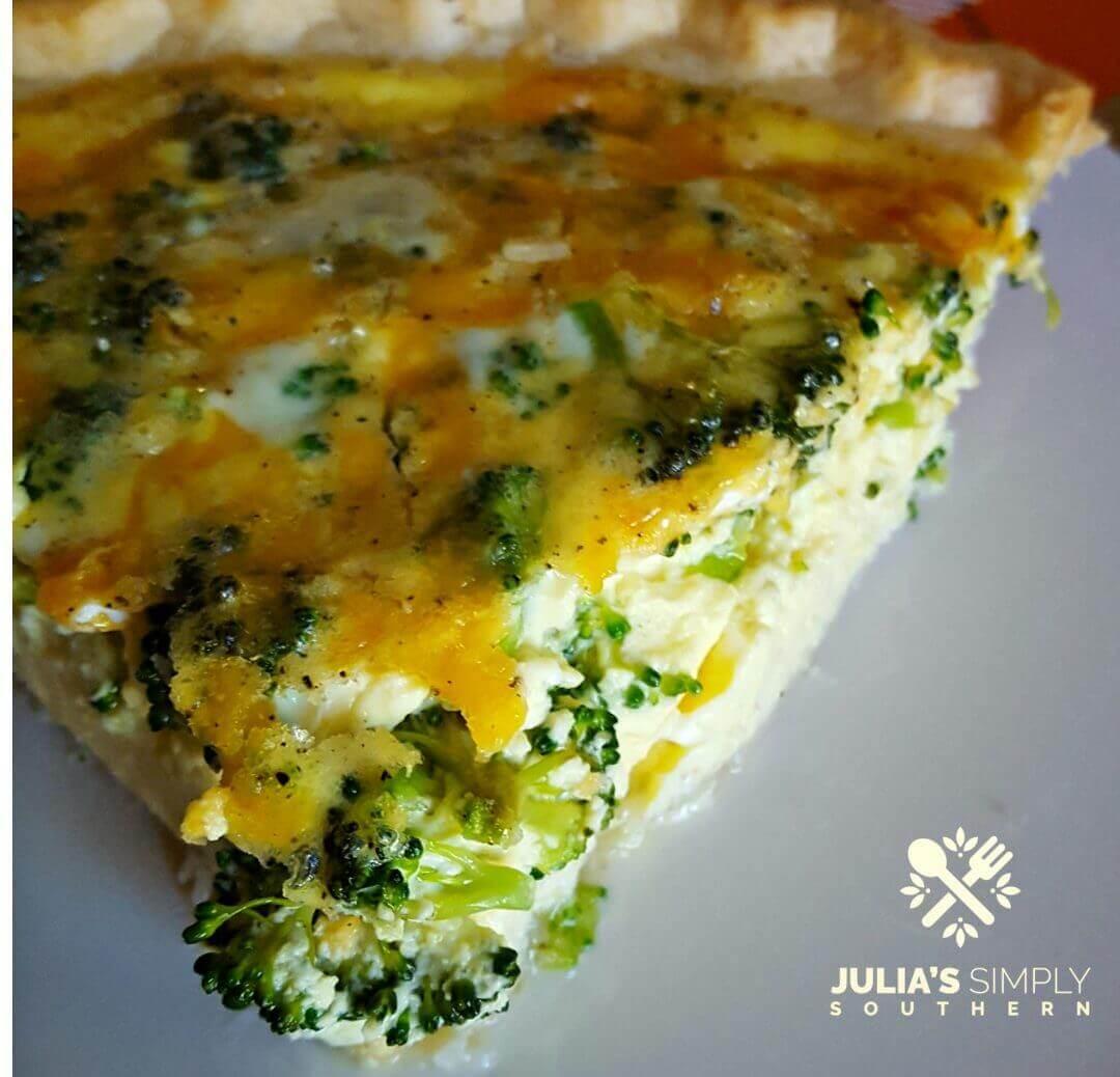 Delicious broccoli and cheddar cheese quiche recipe for breakfast