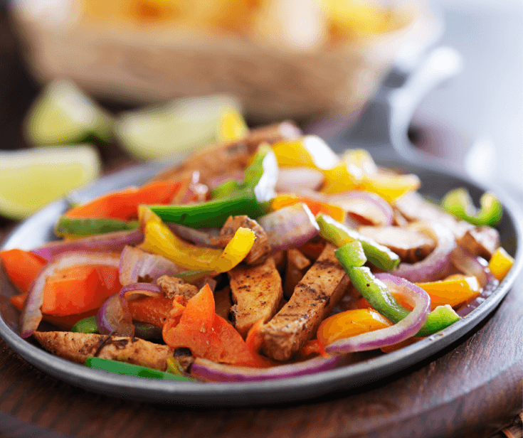 Best Ever Chicken Fajitas - easy family dinner recipe that is budget friendly