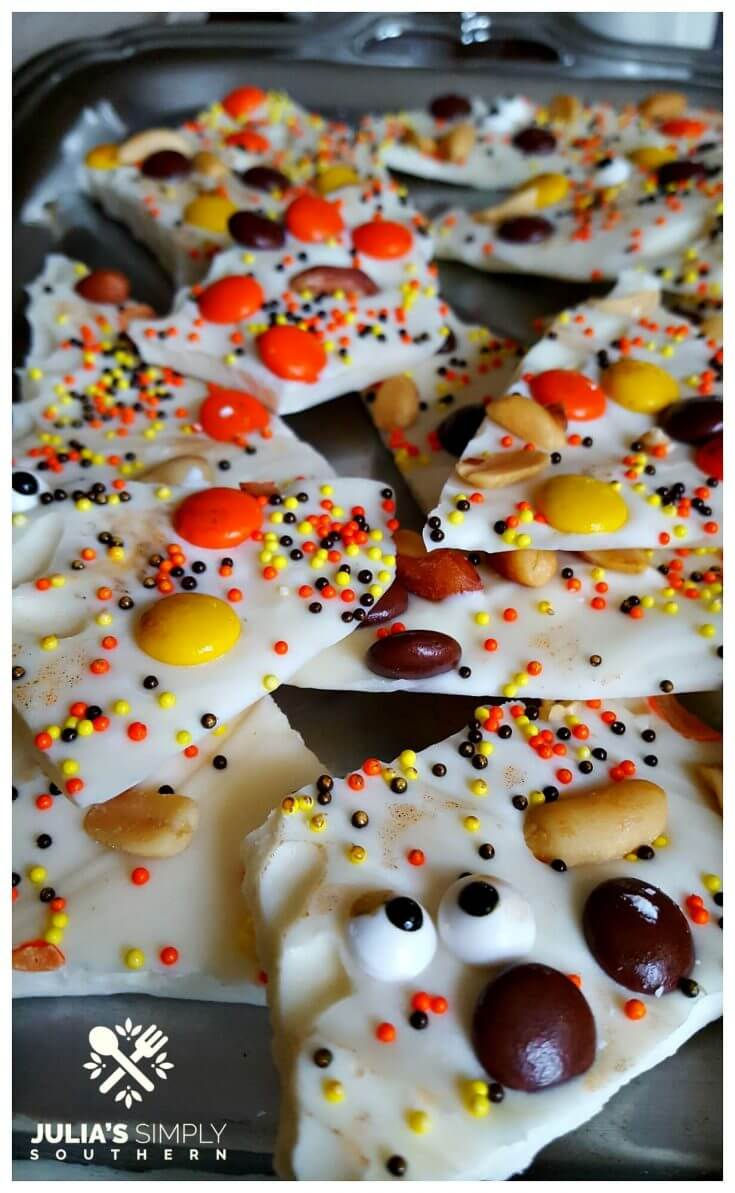 Fun cooking activity with kids for Halloween - Bark - Julia's Simply Southern