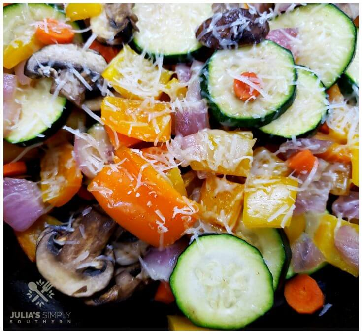 Easy recipe for roasted vegetable medley side dish