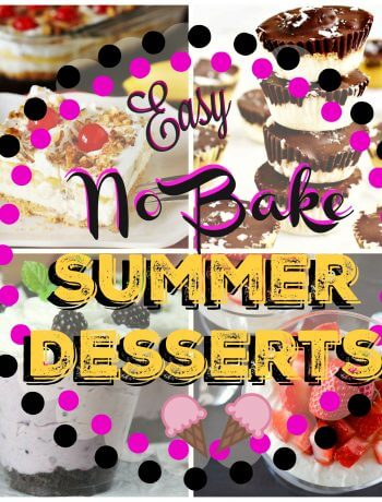 The Best No Bake Desserts with few ingredients that are cool for summer