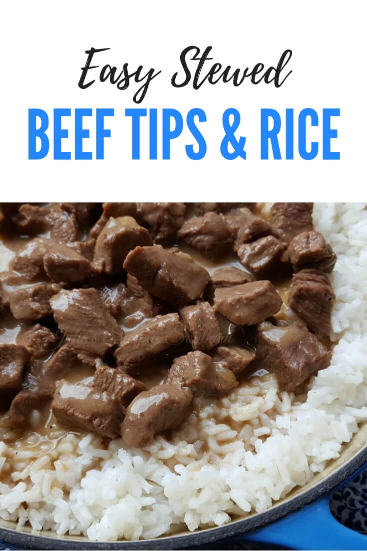 Easy Stewed Beef Tips and Rice