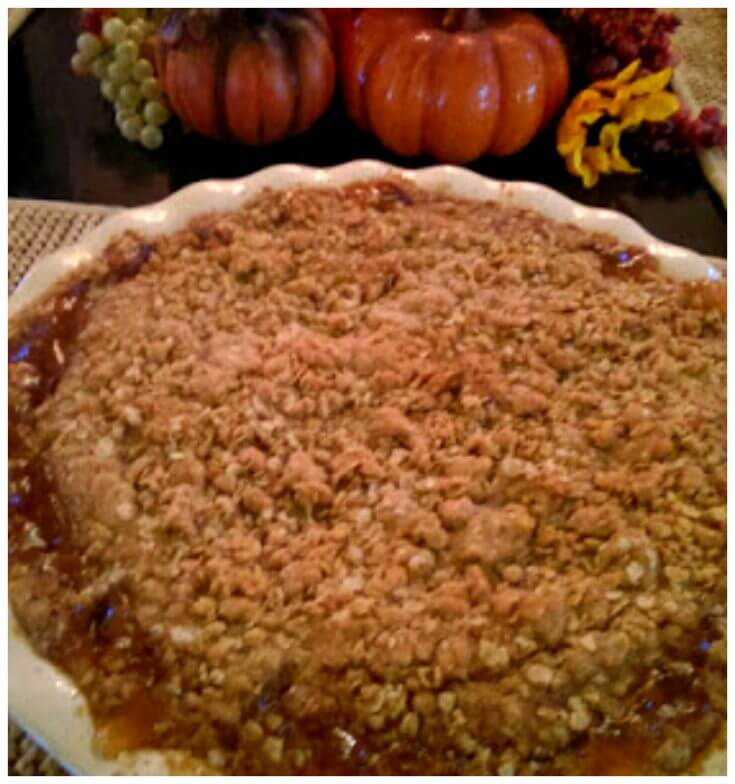 Old Fashioned Apple Crisp with oats made with pie filling