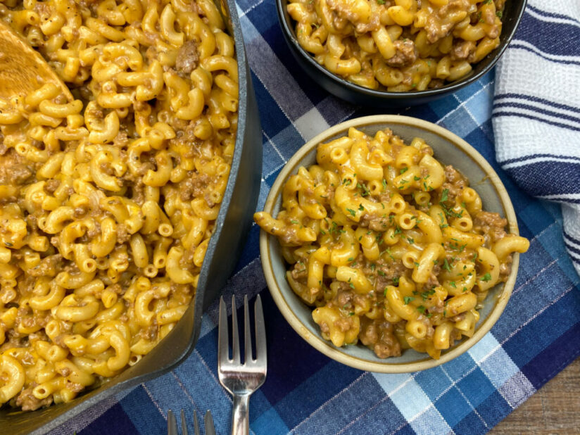 Homemade Hamburger Helper featured at Meal Plan Monday 259