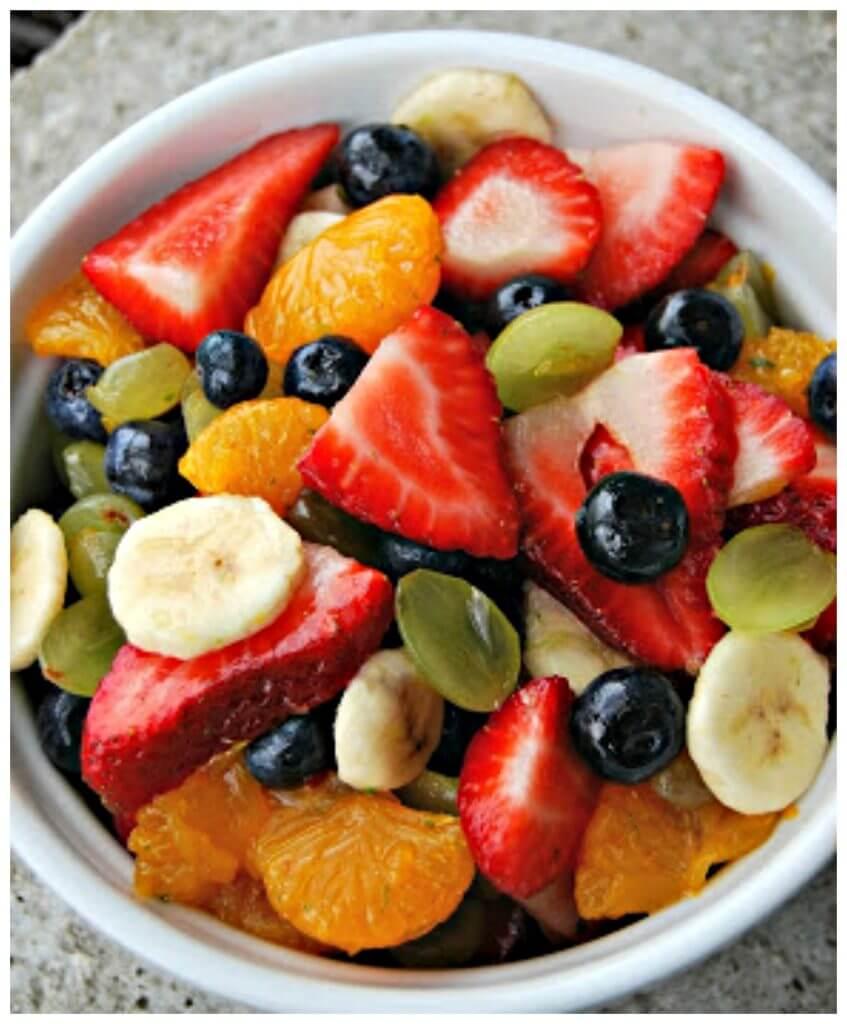 Honey Lime Fresh Fruit Salad Side Dish