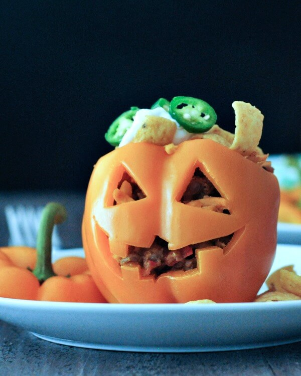 Halloween Stuffed Peppers