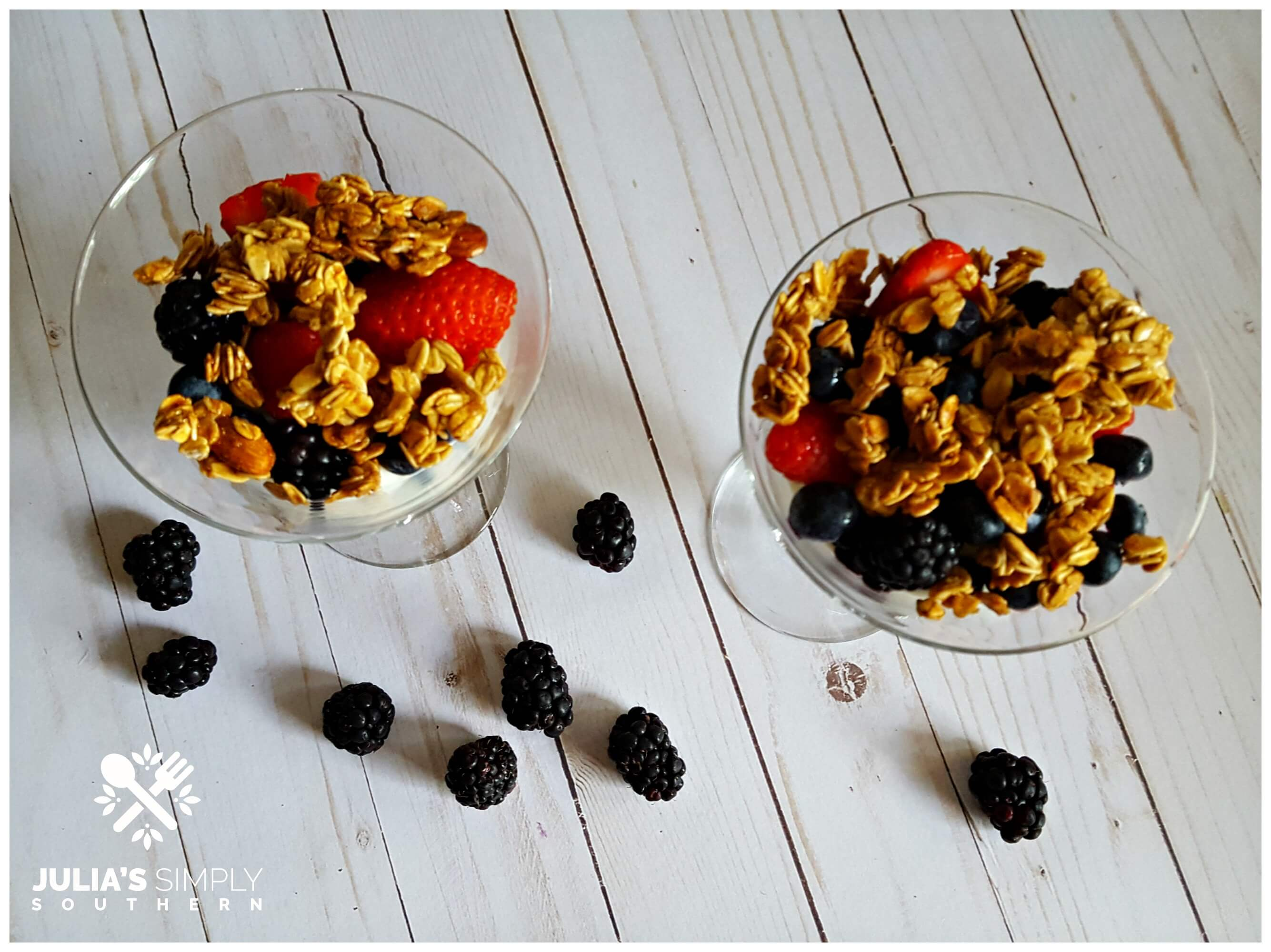 Low fat healthy fruit parfaits
