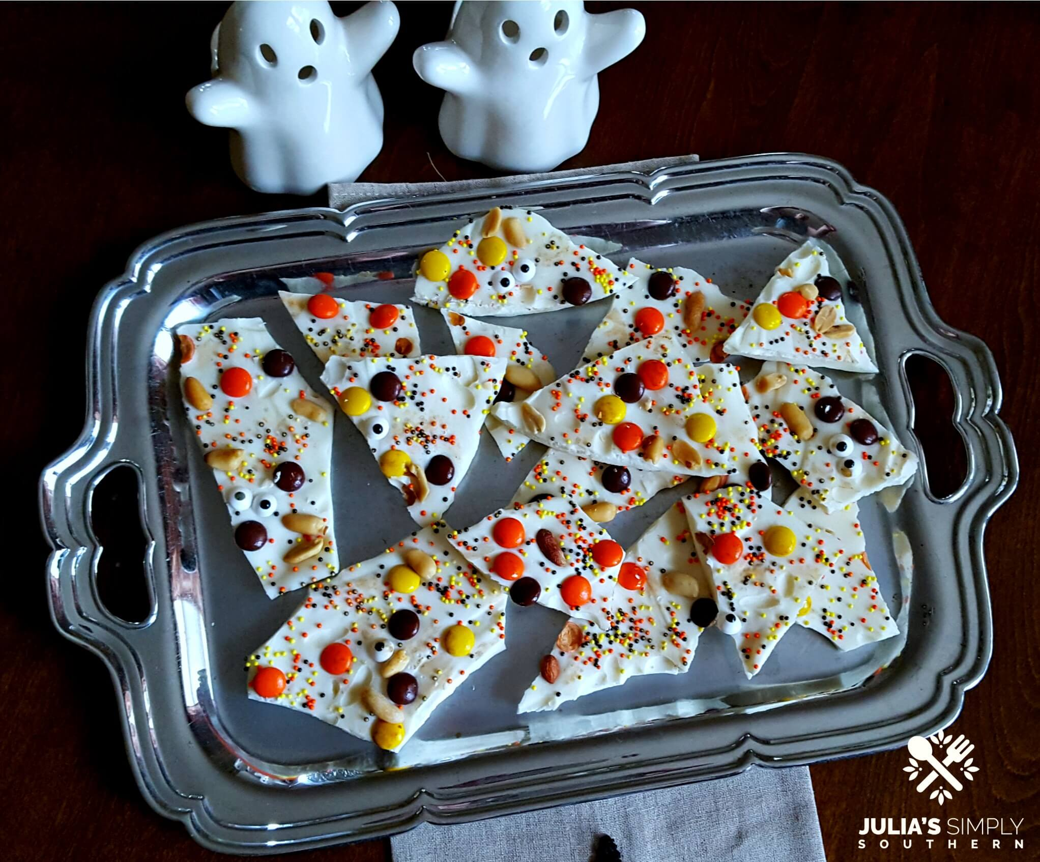 Fun Halloween treat - homemade bark