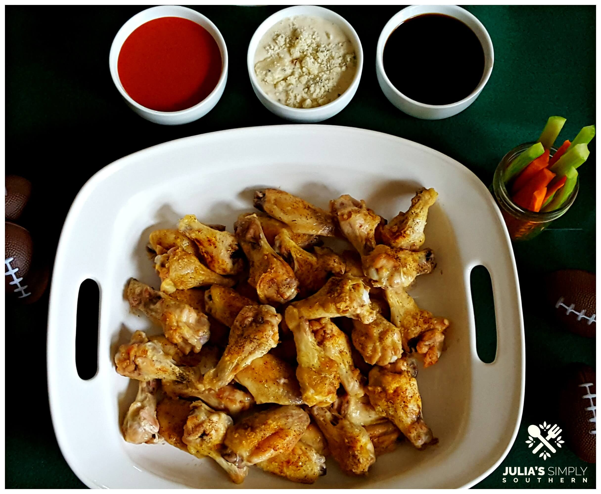 Game Day Appetizers and Party Food - Chicken Wings - Baked at 400