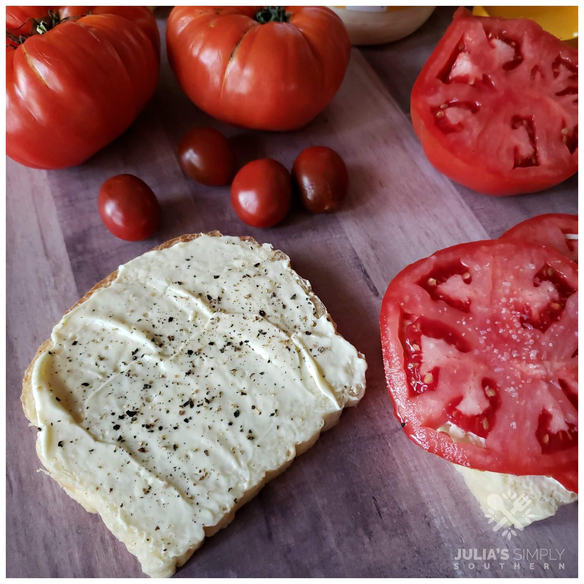 Perfect tomato sandwiches