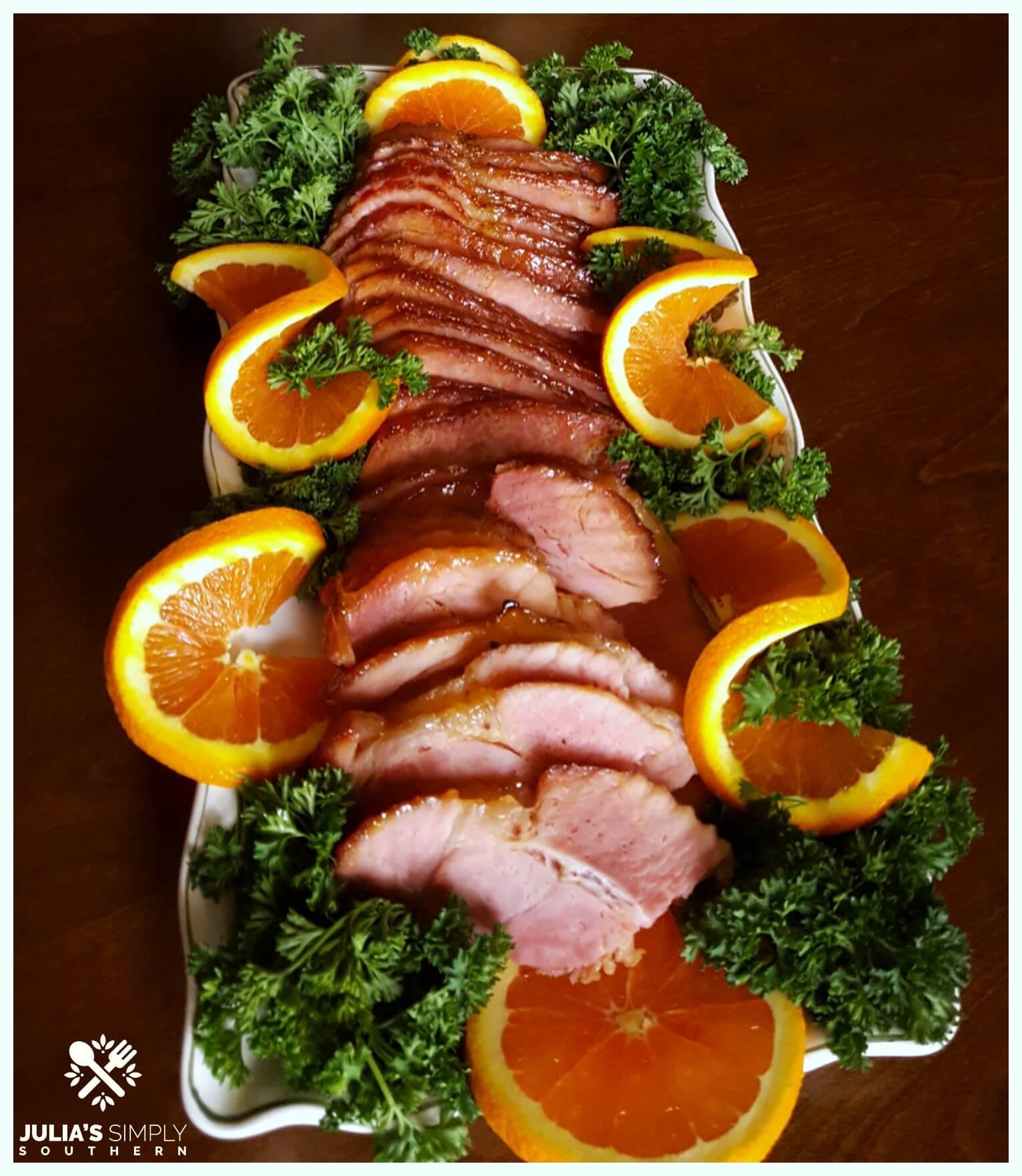 Easter glazed ham