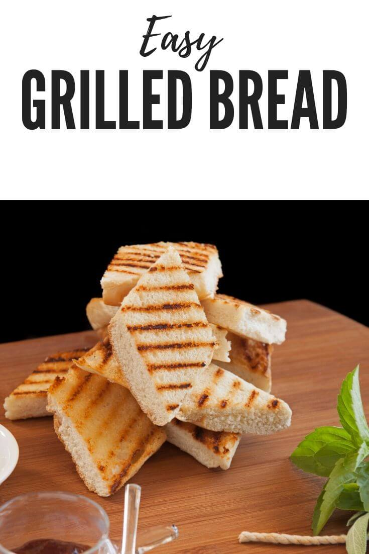 Easy grilled bread makes a great side for your meal and uses up bread that is getting old to prevent food waste.