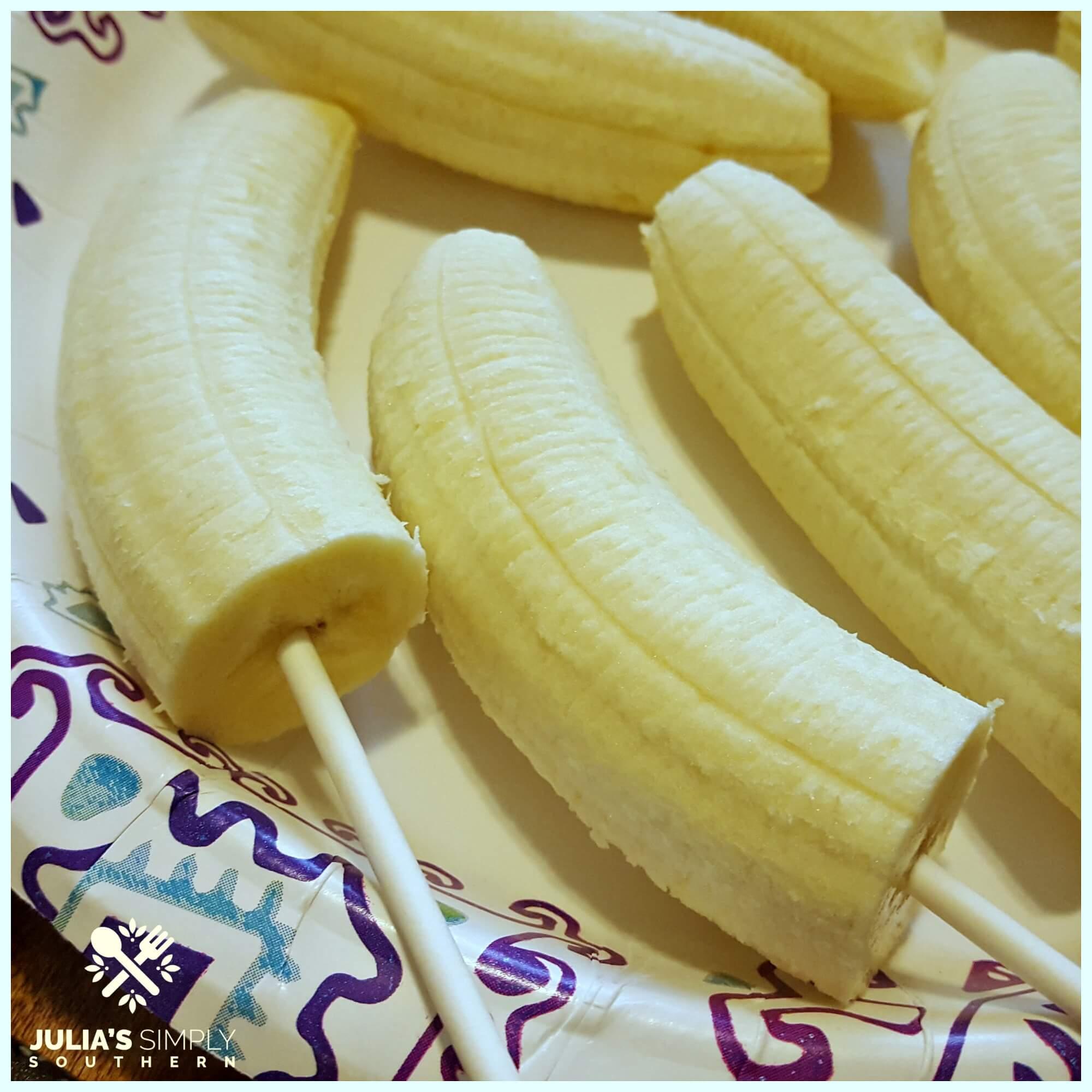 How to make banana ghost treats