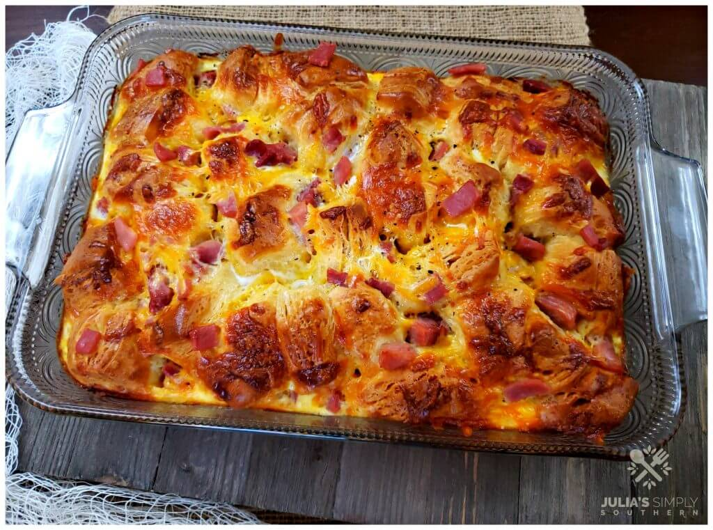 Grands biscuit breakfast casserole and ham