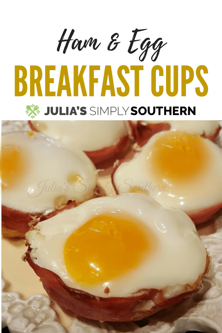 Baked ham and egg breakfast cups
