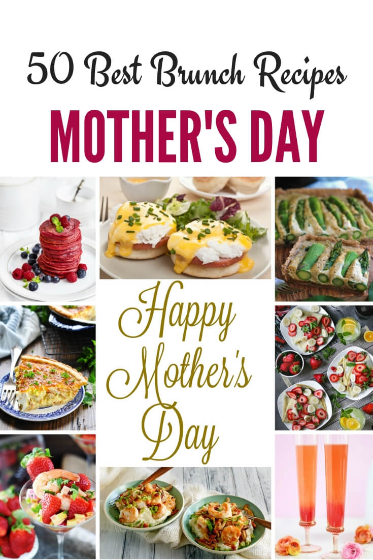 50 Best Mother's Day Brunch Recipes - Julia's Simply Southern including Mother's Day brunch cocktails, classic brunch favorite recipes, sweet brunch recipes and healthy brunch recipes...there is something for everyone. #MothersDay #Brunch #BrunchRecipes #WeekendBrunch