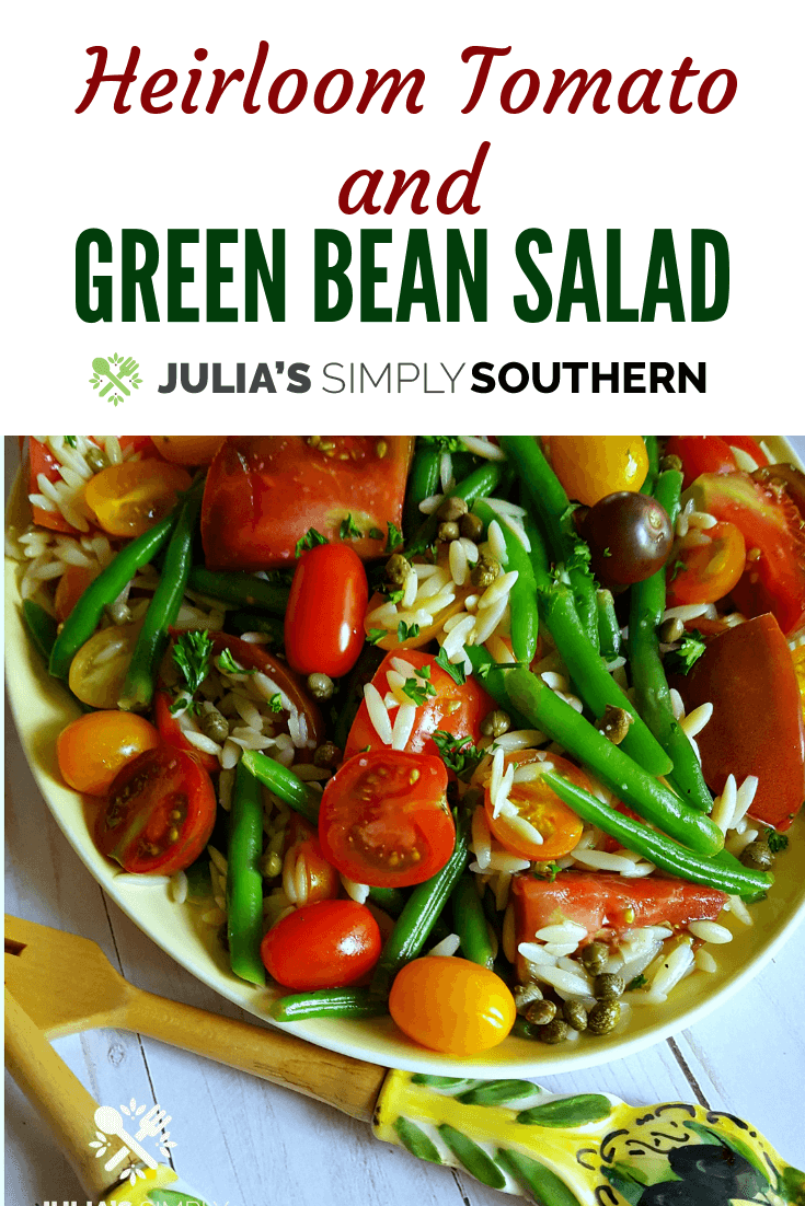 Heirloom Tomato and Green Bean Salad Recipe that makes the perfect summer side dish
