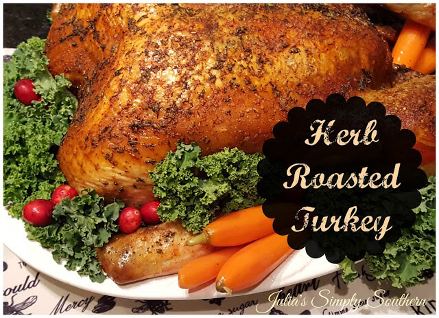 Herb Roasted Free Range Turkey for Christmas Dinner