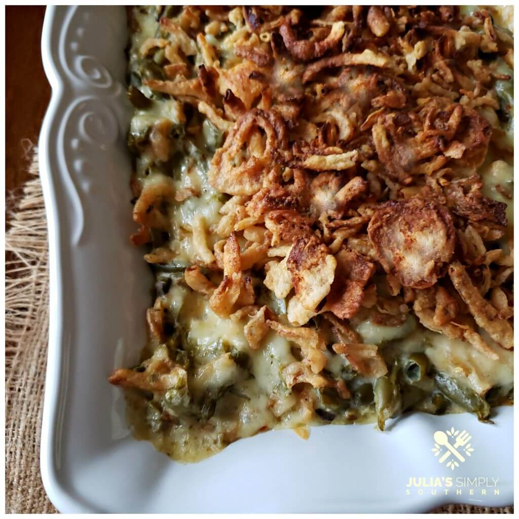 Easter Side Dish Recipes - Best Green Bean Casserole for a crowd