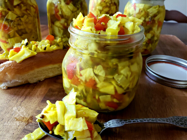 Homemade Chow Chow Relish - preserving food recipe