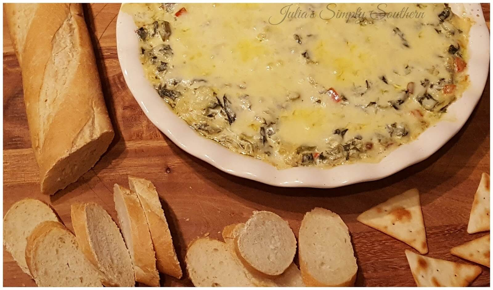 Hot dip recipes with artichoke and collards