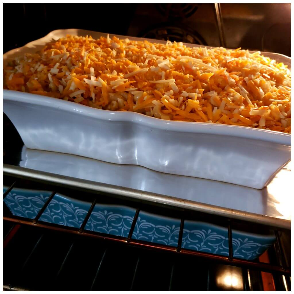 Baking macaroni and cheese