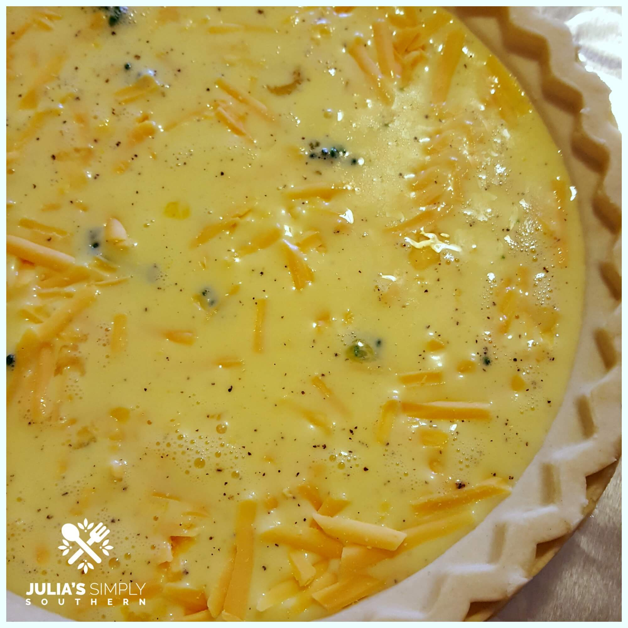 How to make a healthy broccoli and cheddar cheese quiche