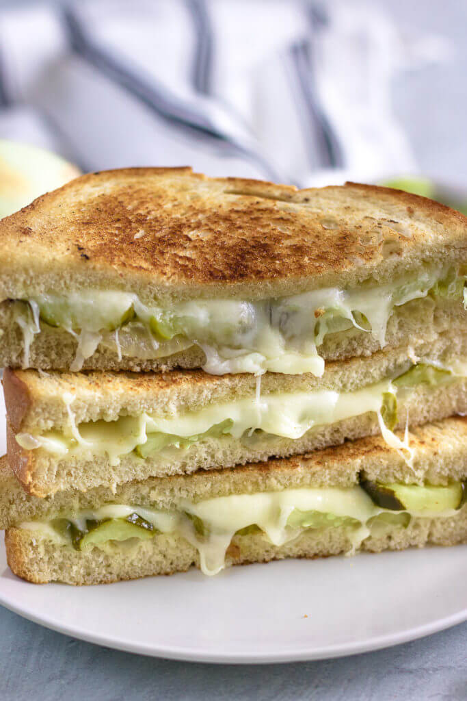 Dill Pickle and Vidalia Onion Grilled Cheese Sandwich