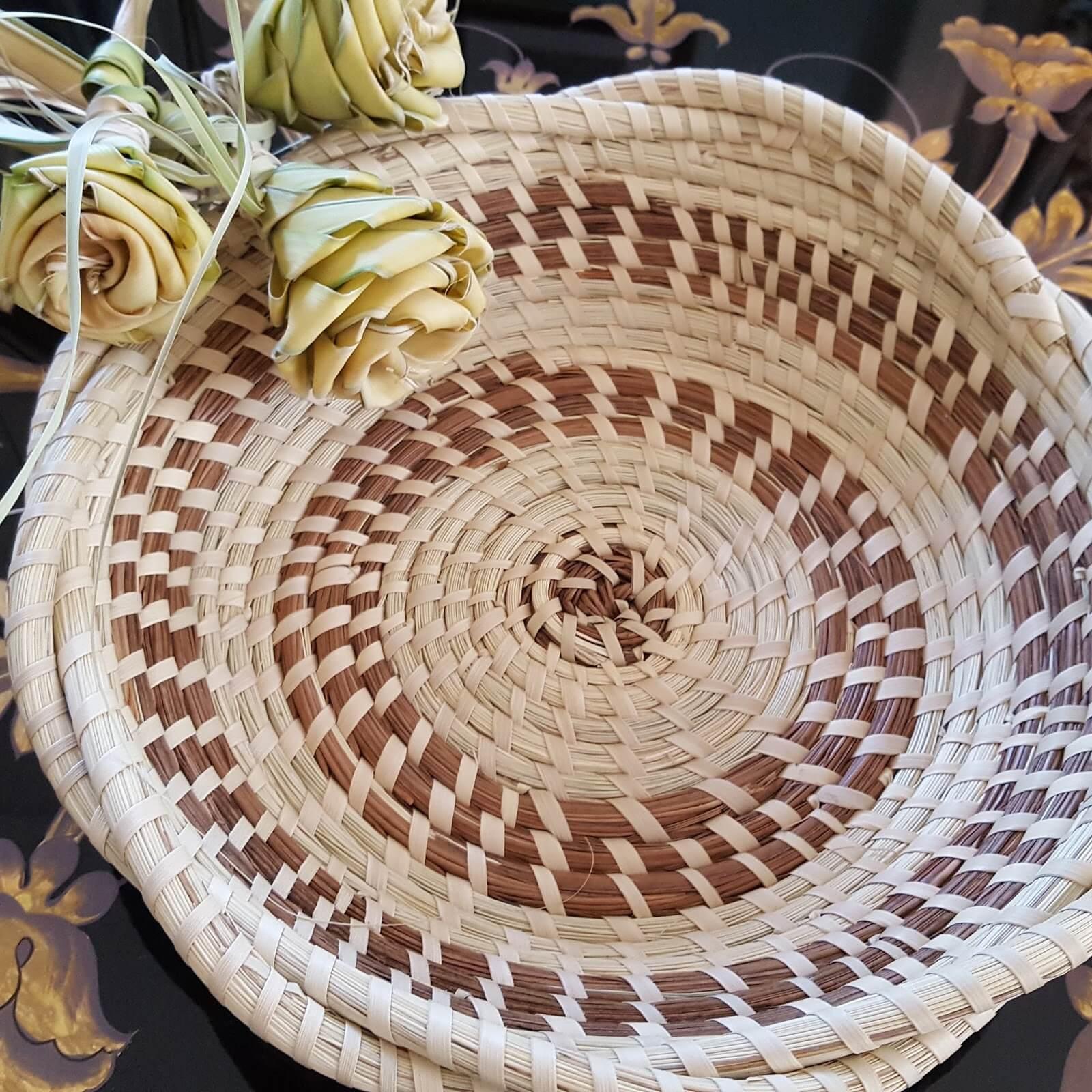 Beautiful sweet grass basket - handmade