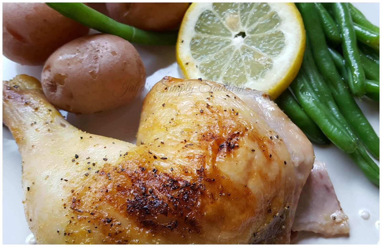 Roasted Lemon Pepper Chicken with vegetables