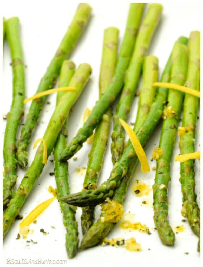 Roasted Asparagus with Lemon and Garlic Featured Photo