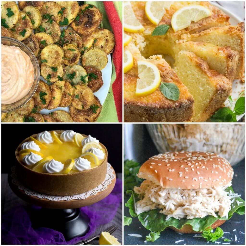 Meal Plan Monday 124 | Fried Squash, Slow Cooker Caesar Chicken Sandwiches, No Bake Dessert, Pound Cake