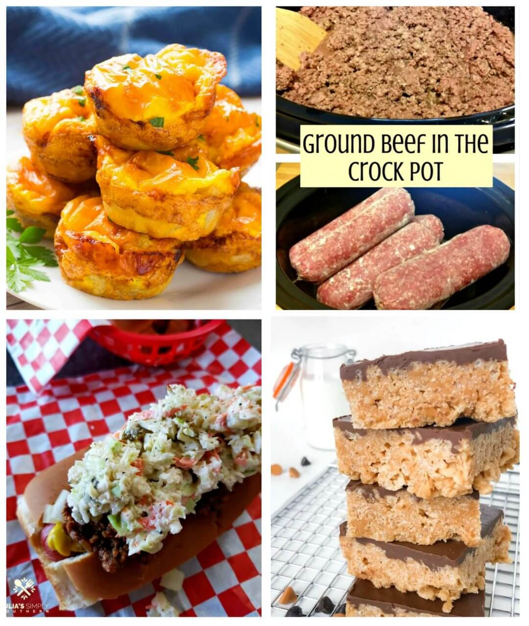 Meal Plan Monday 214 Crock Pot Ground Beef - Feature Collage