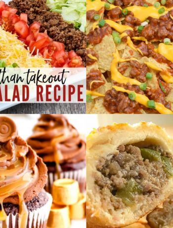 Meal Plan Monday 215 Taco Salad and collage of featured recipes