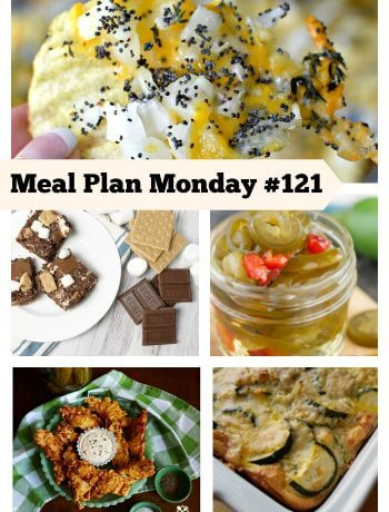Meal Plan Monday #121 - Delicious Recipes to help with your meal planning needs. FREE recipes shared by food bloggers.
