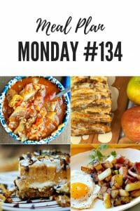 Meal Plan Monday #134 - Apple Pull Apart Bread, Stuffed Cabbage Soup, Home fries, pumpkin chocolate delight and 100+ more recipes shared by food bloggers to inspire your week with delicious options for a home cooked meal #mealprep #MealPlanMonday