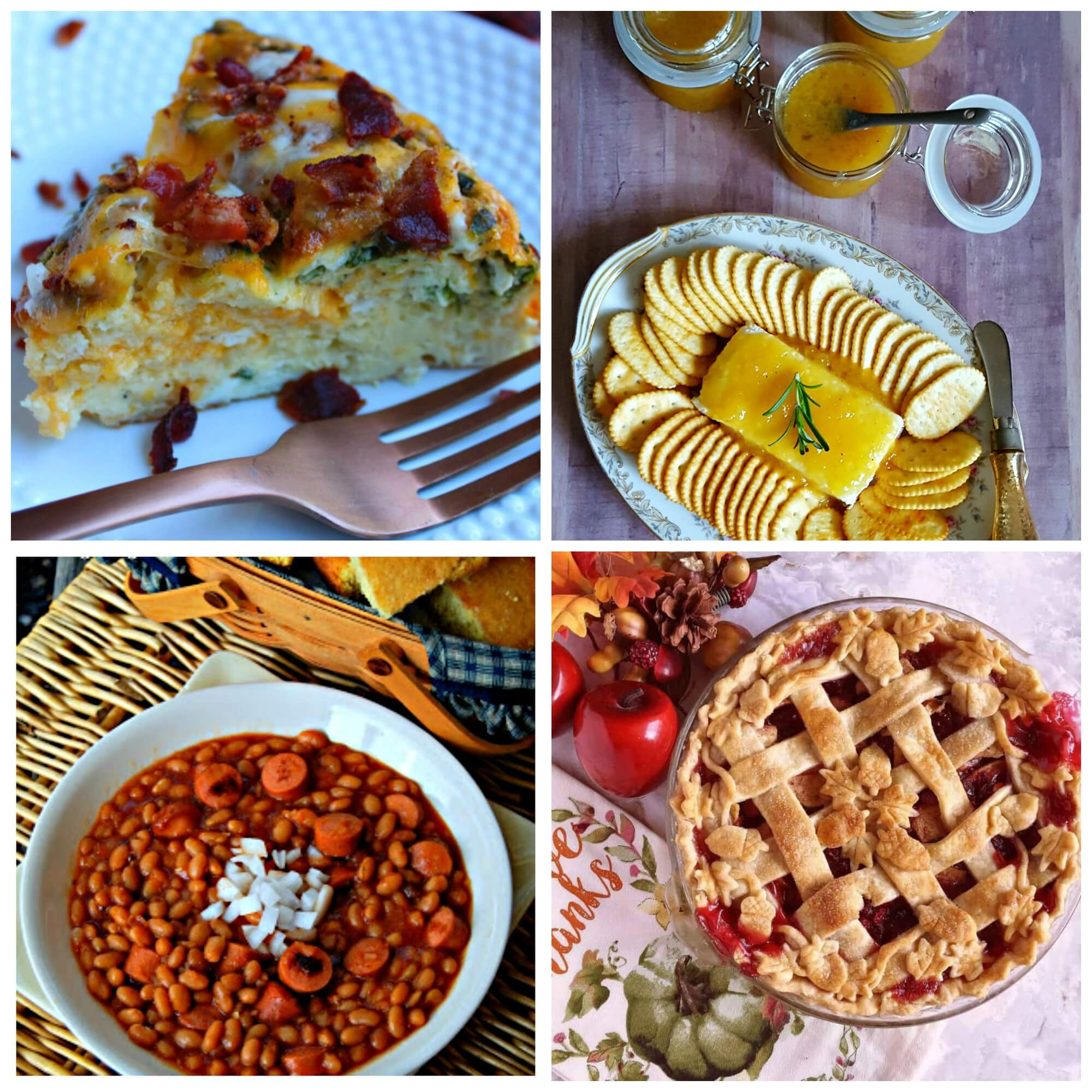 Meal Plan Monday #135 - Easy Breakfast Casserole, Classic Jezebel Sauce, Beans and Weenies and Cranberry Apple Pie